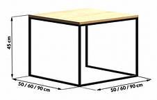 Кофейный Журнальный столик в стиле LOFT (NS-963246794), фото 3