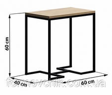 Прикроватный столик в стиле LOFT (NS-963246807), фото 2