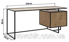 Письменный/Офисный стол в стиле LOFT (NS-963246999), фото 2