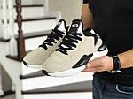Чоловічі кросівки Adidas Y-3 Kaiwa (бежеві), фото 4
