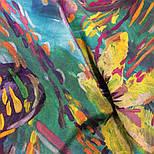 Нюанс 10006-9, павлопосадский шейный платок (крепдешин) шелковый с подрубкой, фото 5