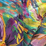 Нюанс 10006-9, павлопосадский шейный платок (крепдешин) шелковый с подрубкой, фото 6