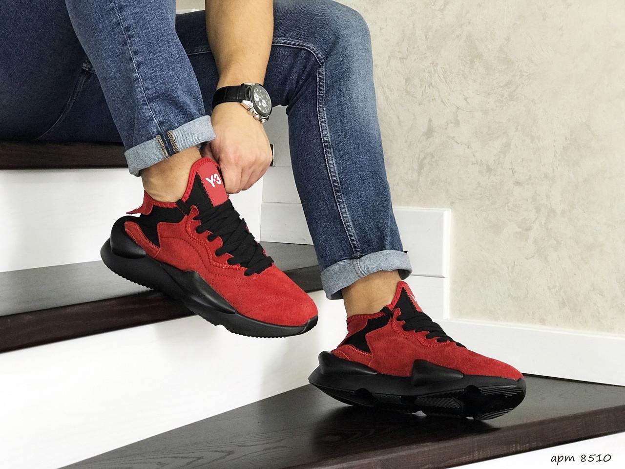 Мужские кроссовки Adidas Y-3 Kaiwa (красные)