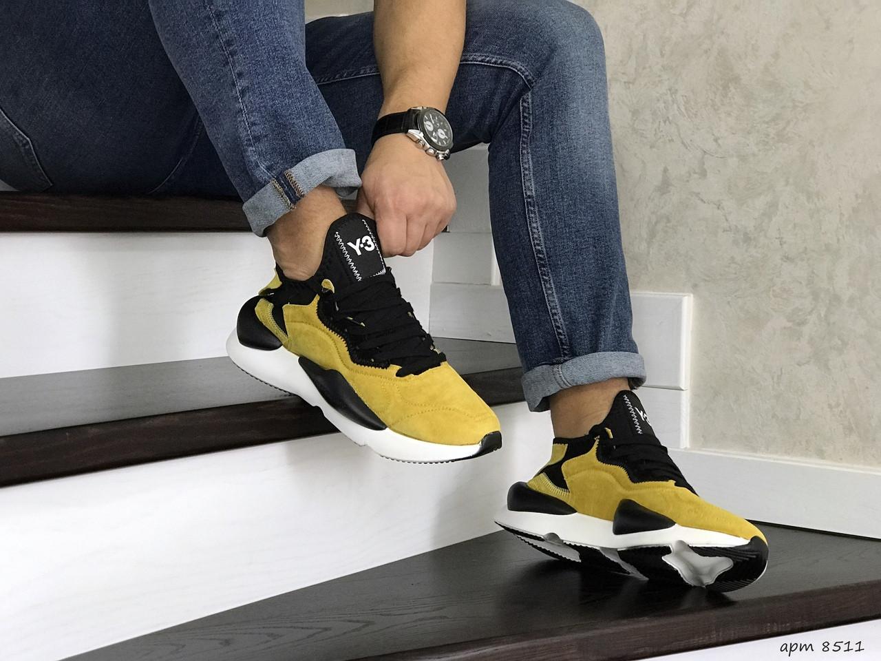 Мужские кроссовки Adidas Y-3 Kaiwa (желтые)