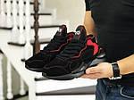 Чоловічі кросівки Adidas Y-3 Kaiwa (чорно-червоні), фото 2