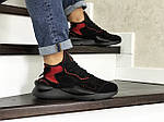 Чоловічі кросівки Adidas Y-3 Kaiwa (чорно-червоні), фото 3
