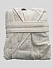 Халат женский махра/велюр короткий с капюшоном С/М, Л/ХЛ ( TM Gursan), кремовый Турция