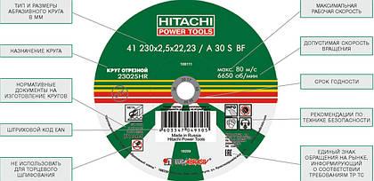Абразивные круги торговой марки Hitachi HiKOKI
