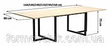 Обеденный стол в стиле LOFT (2600Х800х750)  (NS-963247016), фото 3
