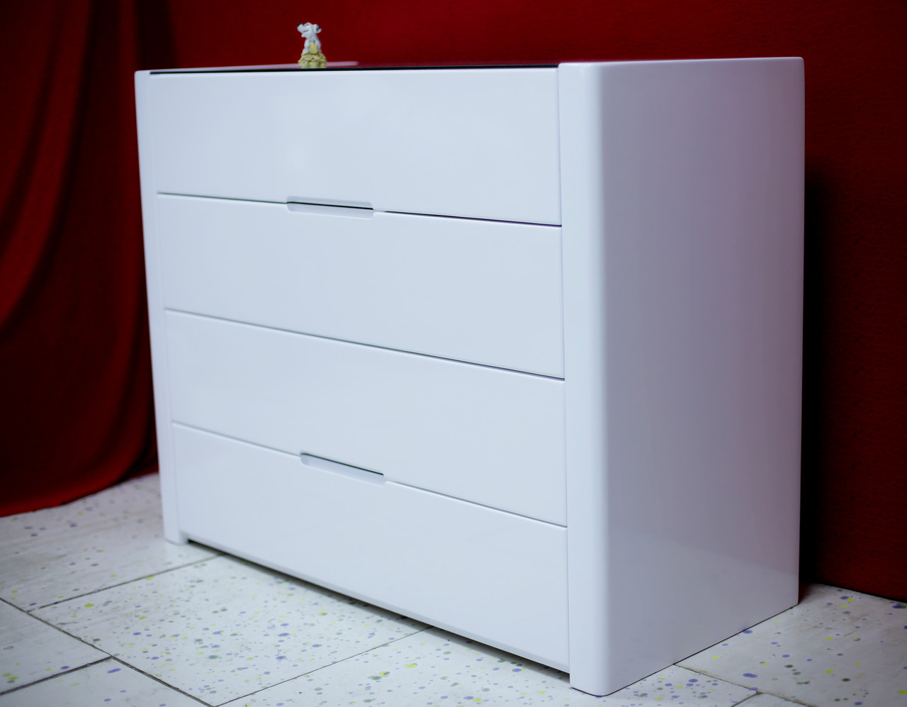 """Комод білий """"Орео"""" в спальню з масиву дерева, фото 1"""
