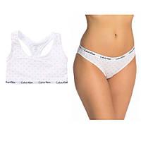 Женский оригинальный белый комплект с принтом Calvin Klein, фото 1
