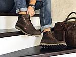 Чоловічі черевики Levis (темно-коричневі) ЗИМА, фото 3