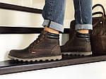 Чоловічі черевики Levis (темно-коричневі) ЗИМА, фото 4