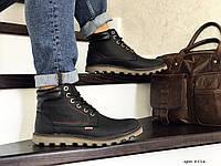 Мужские ботинки Levis (черные) ЗИМА
