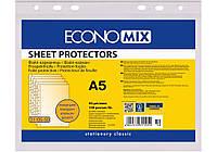 """Файл для документов А5 Economix, 40 мкм, фактура """"апельсин"""" (100 шт / уп)"""