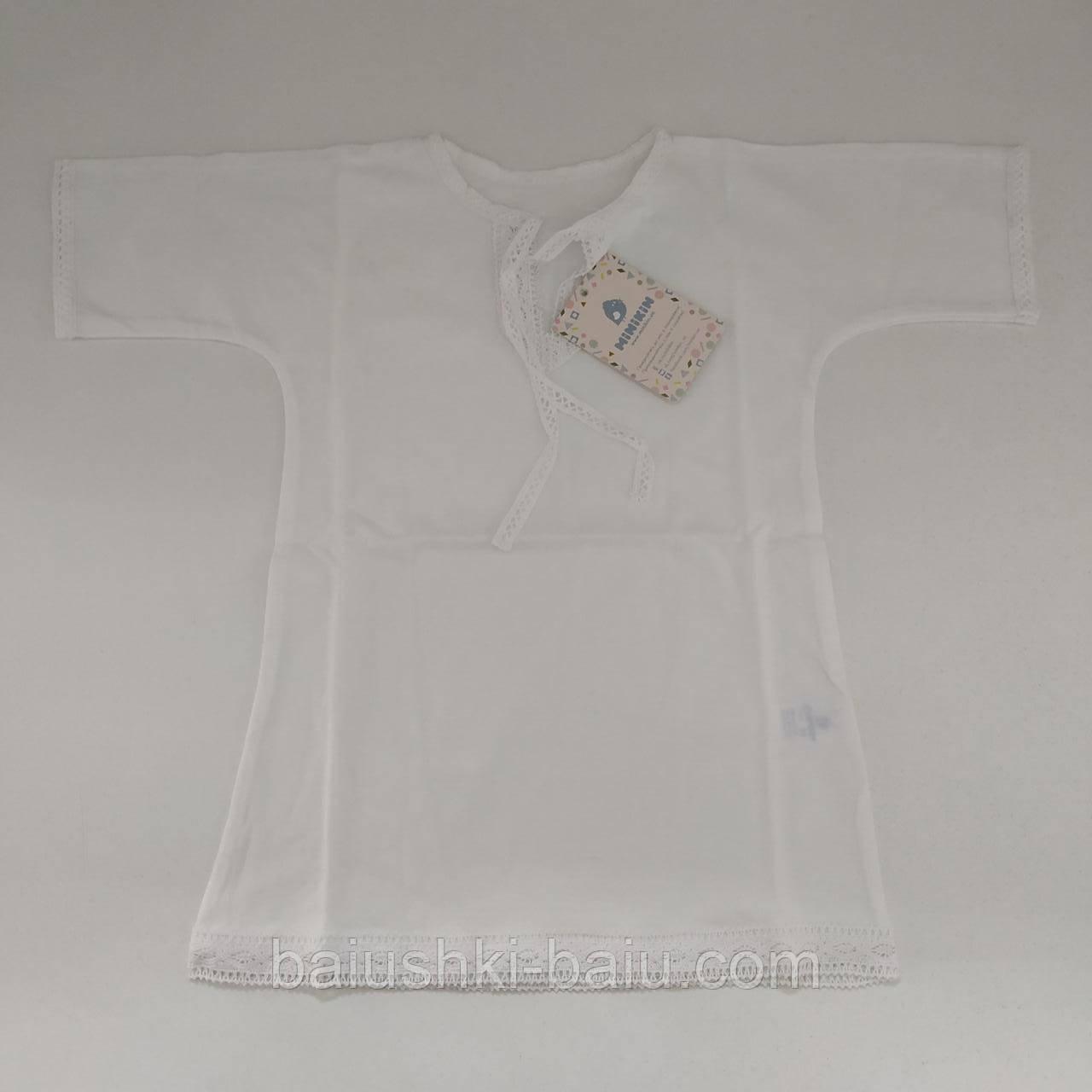 Крестильная рубашка для новорожденного (трикотаж), р. 68-74