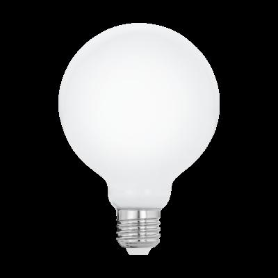"""Лампа Eglo филаментная """"Милки"""" опал. стекло LM LED E27 G95 2700K 11601"""