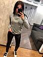 Теплый турецкий свитер Туфелька 7205 серый  (42-46), фото 3