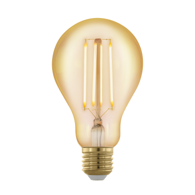 Лампа Eglo филаментная диммируемая золотая LM LED E27 A75 1700K 11691