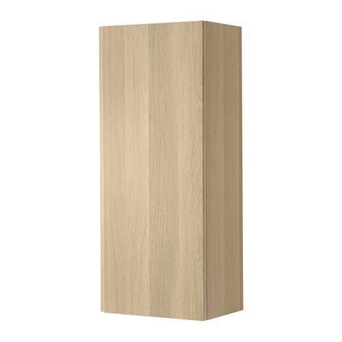 ГОДМОРГОН Шкаф подвесной, под беленый дуб, 40x30x100см
