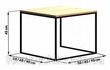 Кофейный Журнальный столик в стиле LOFT  (NS-963247044), фото 3