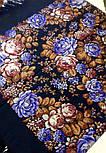 Цветочная сказка 1458-14, павлопосадский платок шерстяной  с шерстяной бахромой, фото 5