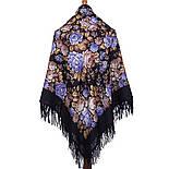 Цветочная сказка 1458-14, павлопосадский платок шерстяной  с шерстяной бахромой, фото 8
