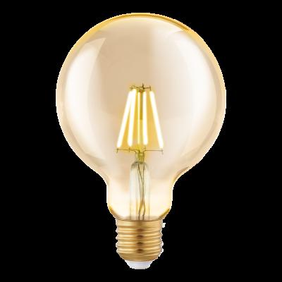 Лампа Eglo филаментная янтарь LM LED E27 (DECO ITEMS) G95 2200K 11522