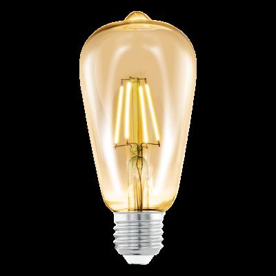 Лампа Eglo филаментная бурштин LM LED E27 (DECO ITEMS) ST64 2200K 11521
