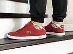 Чоловічі кросівки Lacoste (червоні), фото 2
