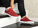 Чоловічі кросівки Lacoste (червоні), фото 4