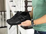Мужские кроссовки New Balance 574 (черные) ЗИМА, фото 2