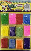 Легкий шариковый пластилин в наборе 12 цветов по 10 грамм (цена за 12 штук)