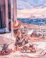 """Картины по номерам / обложка. Люди """"Отдых в Париже""""  40х50см арт. КНО4544"""