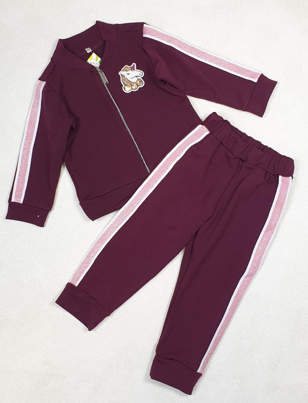 Дитячий спортивний костюм для дівчинки р. 92-110 опт