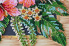 Набор-миди для вышивки бисером Цветы Танзании (20 х 20 см) Абрис Арт AMB-026, фото 3
