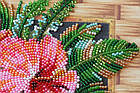Набор-миди для вышивки бисером Цветы Танзании (20 х 20 см) Абрис Арт AMB-026, фото 4