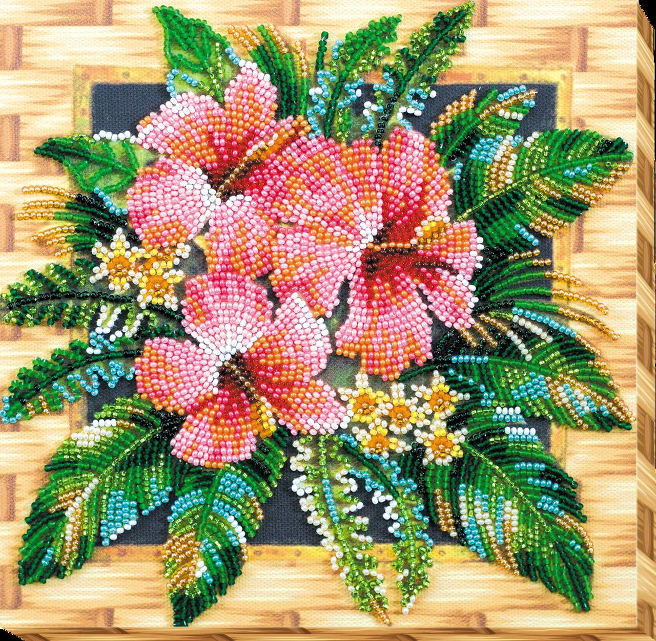Набор-миди для вышивки бисером Цветы Танзании (20 х 20 см) Абрис Арт AMB-026