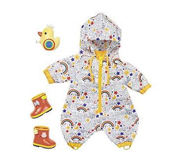 Дощовик, чобітки, водяний пістолет для пупса ляльки Baby Born 826935 Deluxe