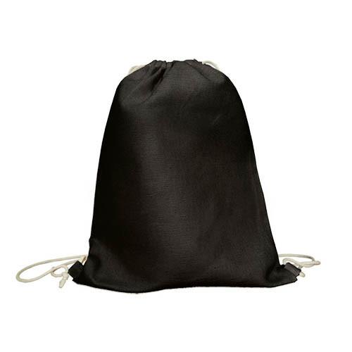 Рюкзак черный из саржи для росписи или печати