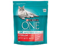 Сухой корм для котов Purina One Sterilcat Salmon & Wheat 800 г (129369)