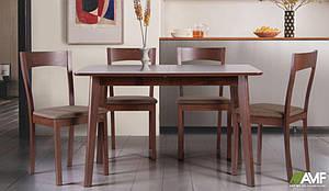 Обеденная группа деревянной мебели АМФ стол-стул Виндзор-Ричард коричневые