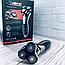Электробритва Триммер Профессиональная, беспроводная, мощная аккумуляторная электробритва Gemei GM 7719, фото 9