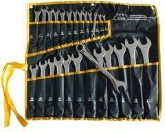 Набір комбінованих ключів Сталь 48034 CRV 25 шт, чохол, дзеркальні