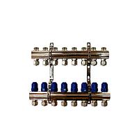 """Коллектор """"ITAL-therm"""" на 8 контуров для отопления латунный"""