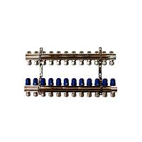 """Коллектор """"ITAL-therm"""" на 12 контуров для отопления латунный"""