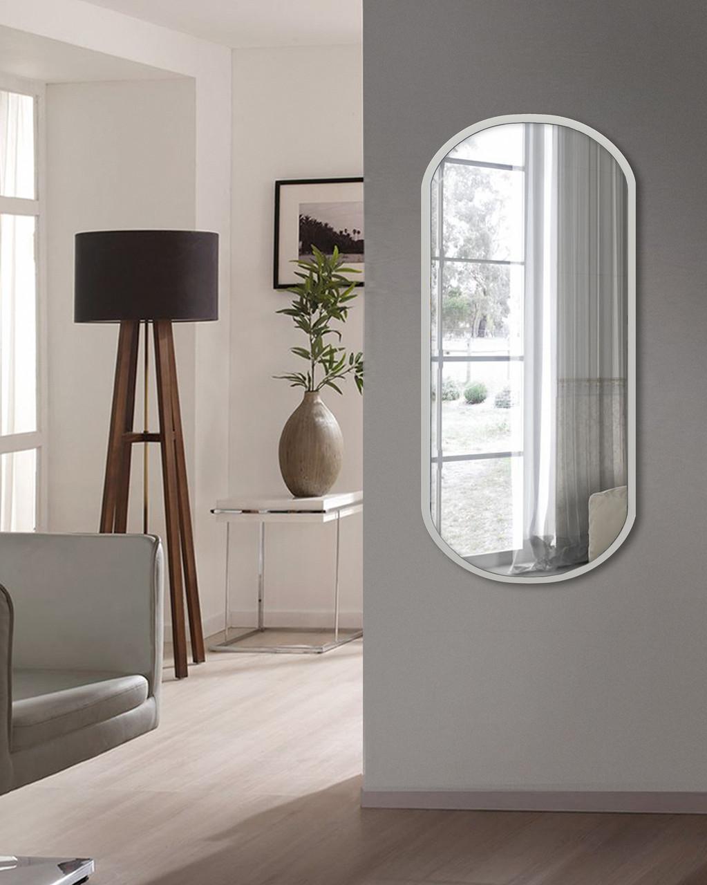 Зеркало ростовое, белое 1300 х 600 мм