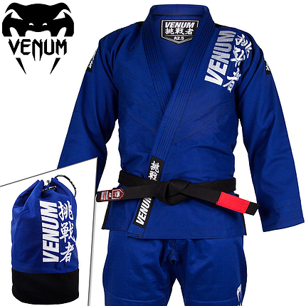 Кимоно для джиу-джитсу Venum Challenger 4.0 BJJ Gi Blue, фото 2