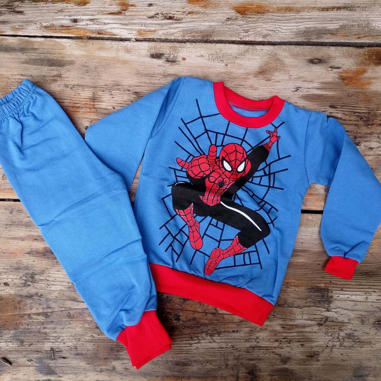 Детская пижама для мальчика Человек паук флисовая 86-92 ...