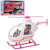 Кукла шарнирная с вертолетом Defa Lucy 8422-BF